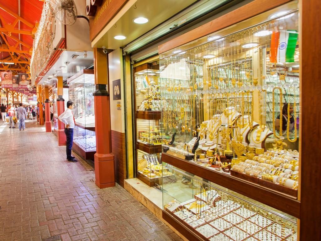 Goldschmuck kaufen  Im Gold Souk Dubai kann man günstig Schmuck kaufen