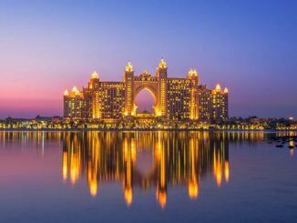 Atlantis The Palm Dubai bei Nacht