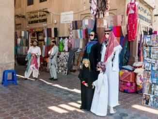 Der Textil Souk in Dubai