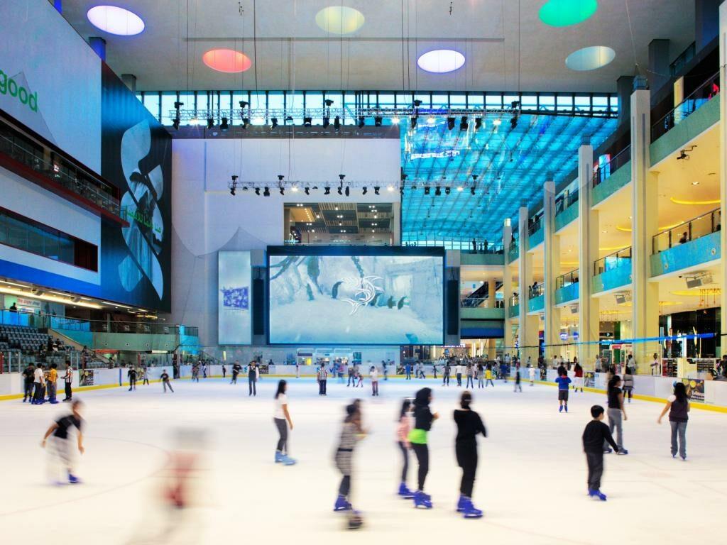 Eislaufbahn Dubai Ice Rink