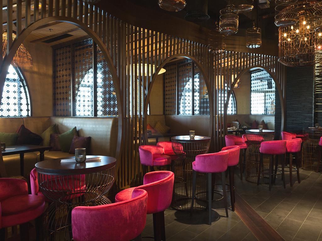 Ein Restaurant im Pier 7 in Dubai