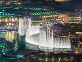 Dubai Fountain Wasserfontänen