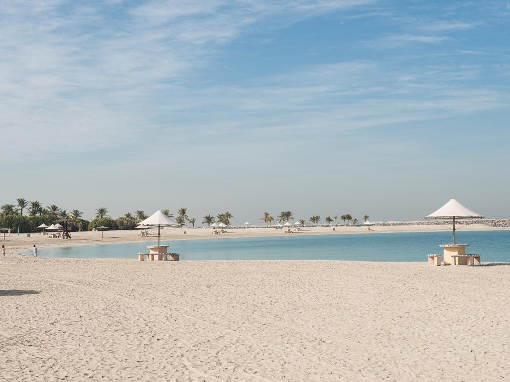 Al Mamzar Beach Park mit tollem Strand