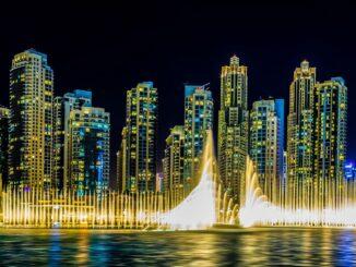 Wasserfontänen Dubai Fountain