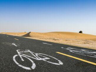 Der Al Qudra Cycle Path in Dubai