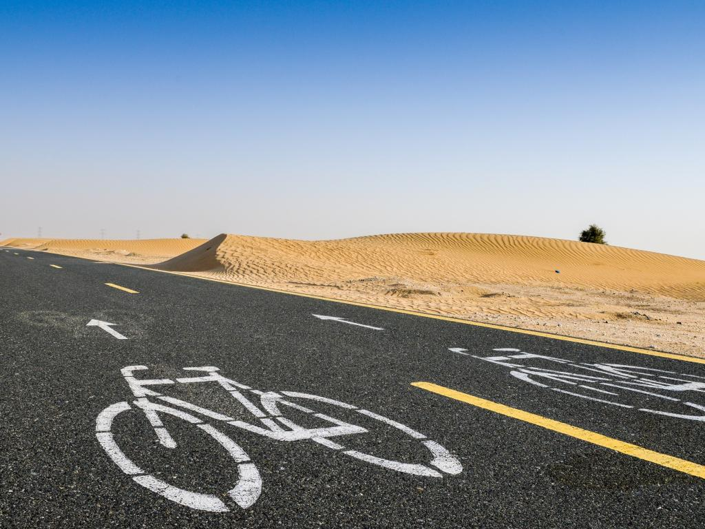 Der Al Qudra Cycle Path in Dubai