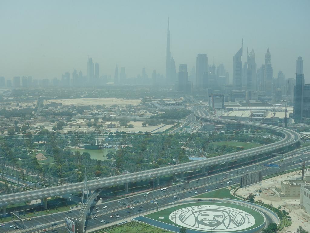 Die Aussicht vom Dubai Frame bei Tag