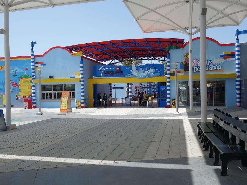 Eingang zum Legoland Water Park in Dubai