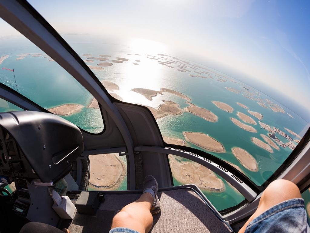 Ein Hubschrauberrundflug über Dubai