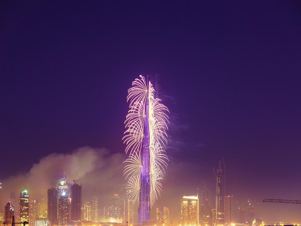 Burj Khalifa Dubai an Silvester