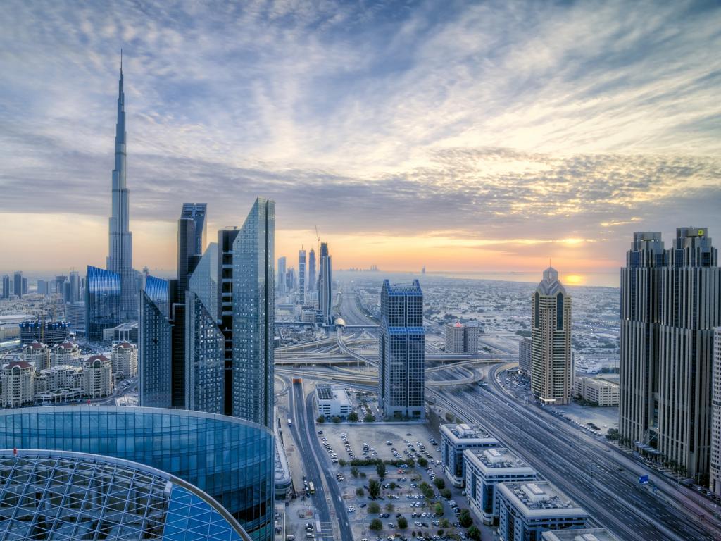Dubai Downtown mit Burj Khalifa
