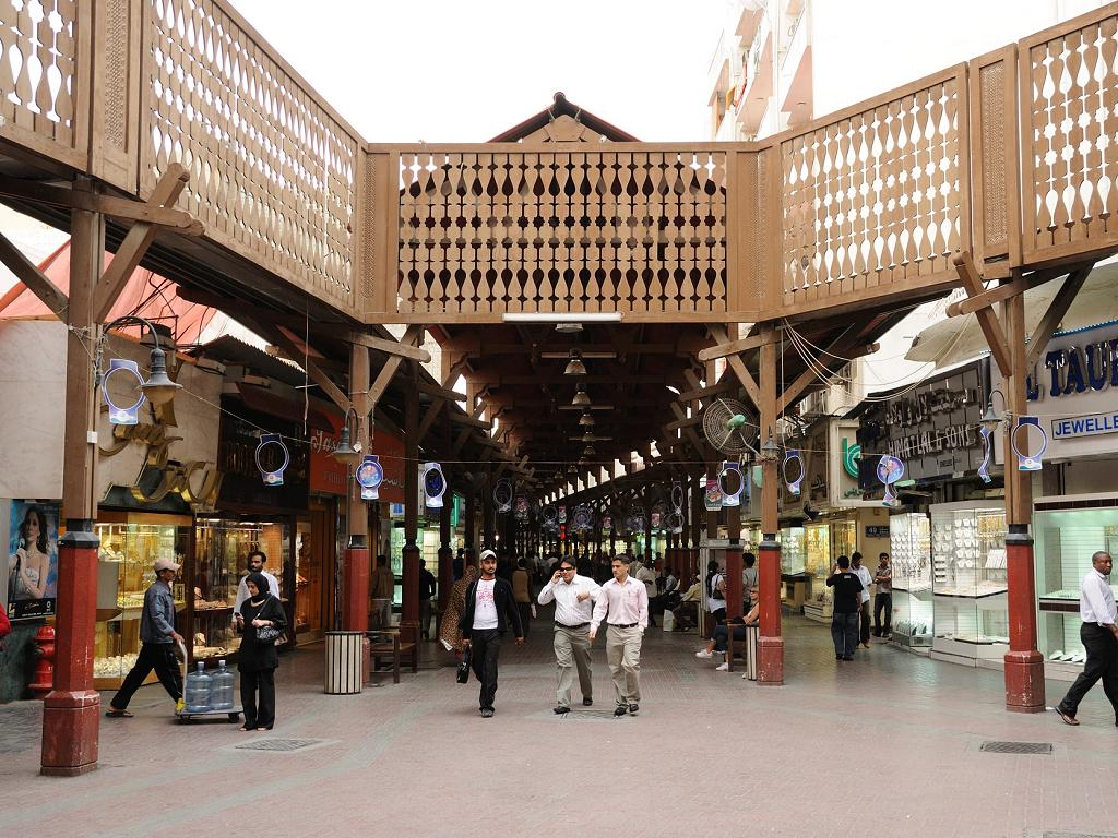 Der Eingang zum Gold Souk Dubai