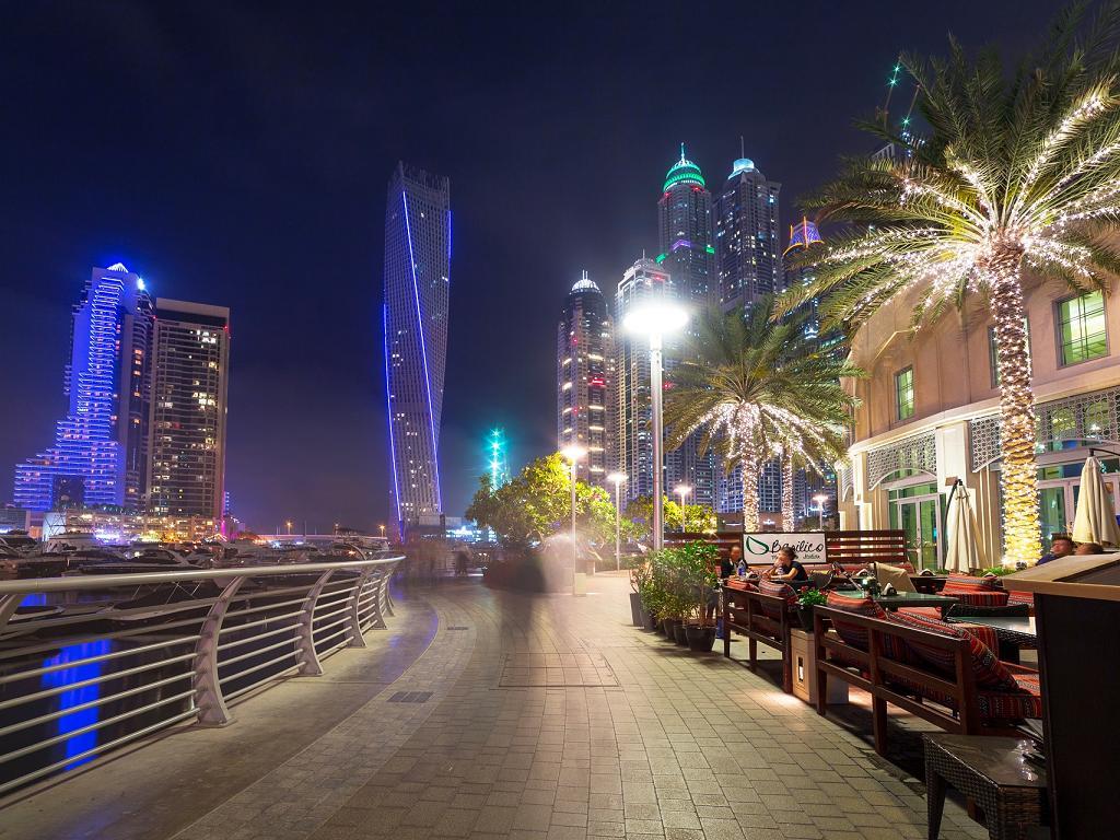 Restaurants entlang des Dubai Marina Walk