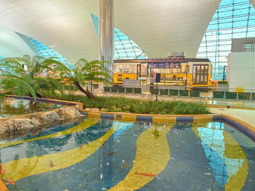 Zen Gärten im Dubai Airport Terminal 3