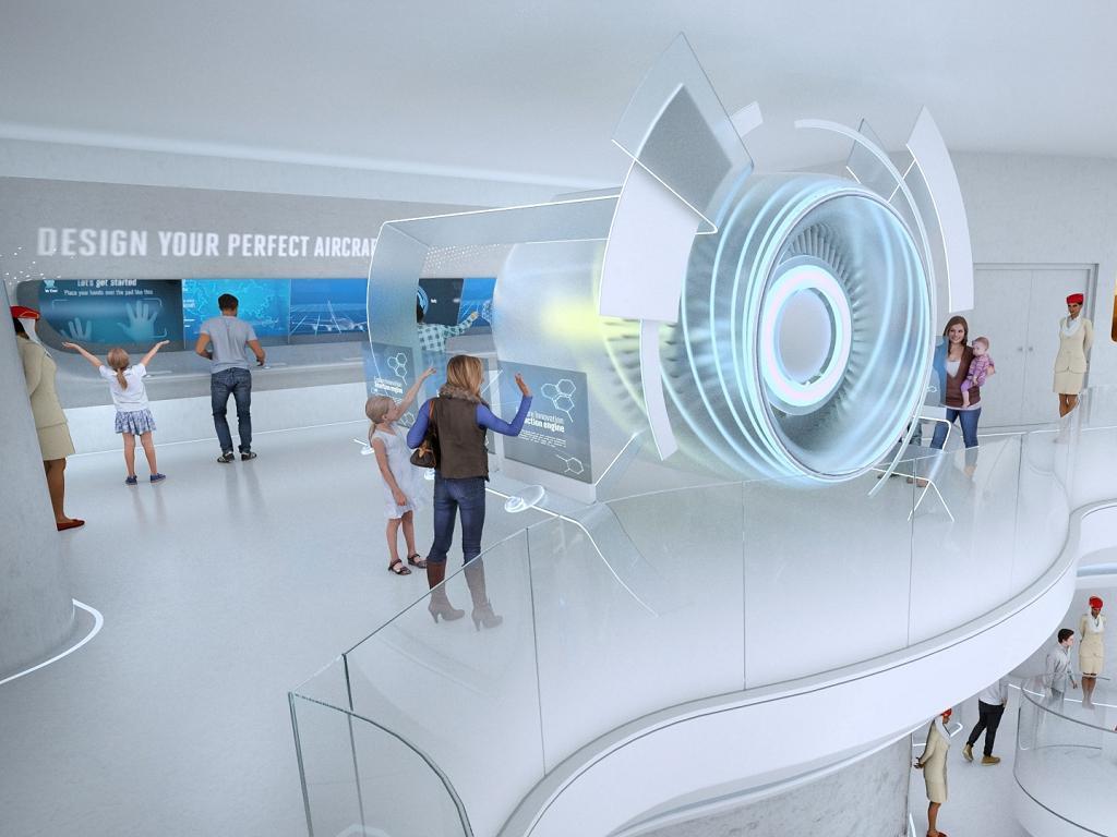 Ein moderner Pavillon auf der Expo | © Emirates Airline
