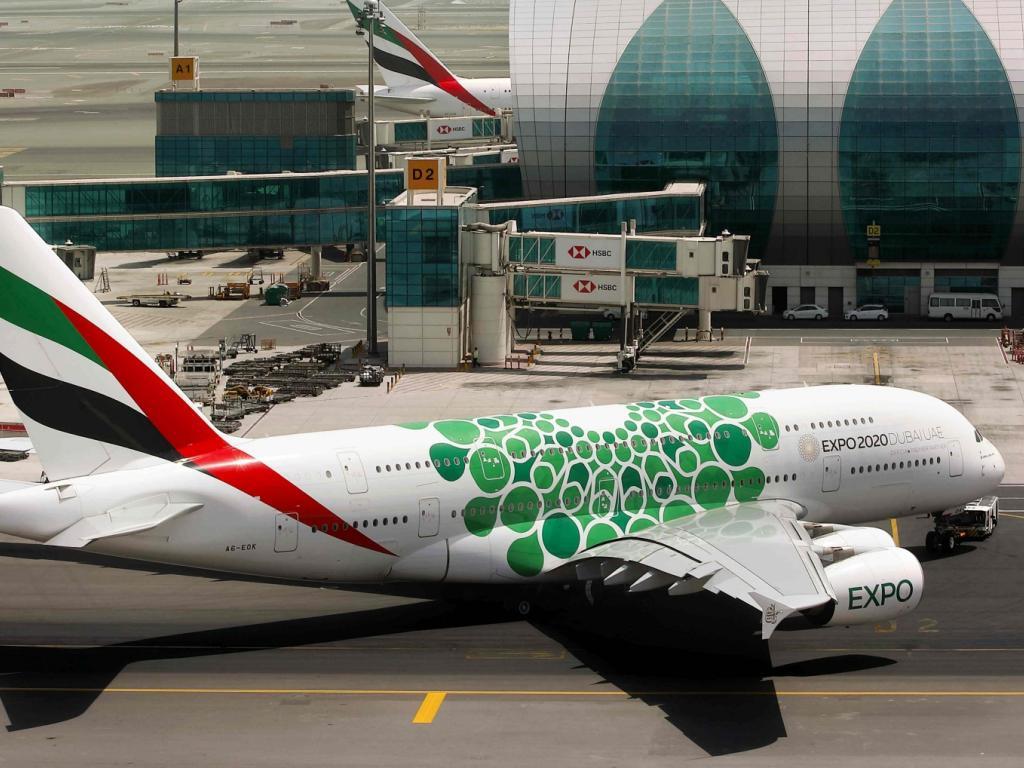 Expo 2020 Flugzeug von © Emirates Airbus A380