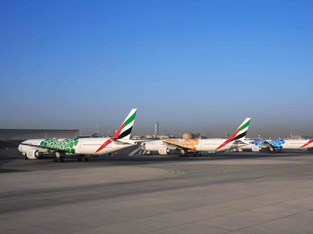 Expo 2020 Flugzeug von © Emirates Boeing 777