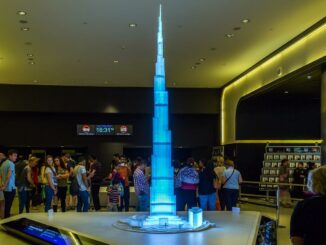 Ein Modell vom Burj Khalifa