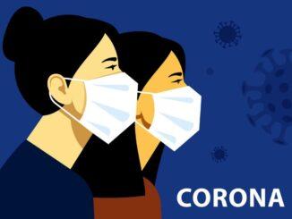 Eine Maske um sich vor dem Coronavirus zu schützen