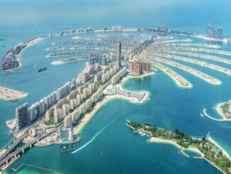 Panorama von der Insel The Palm Jumeirah
