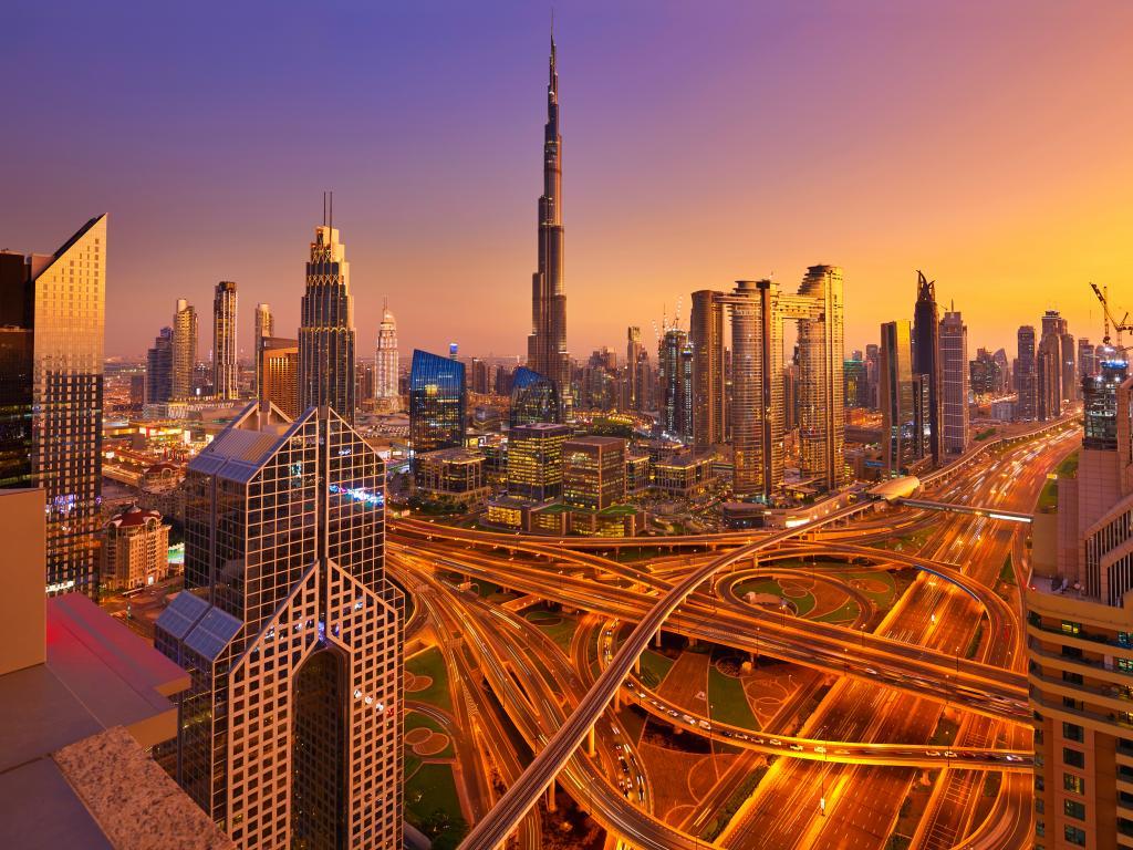 Das ist die Skyline von Dubai