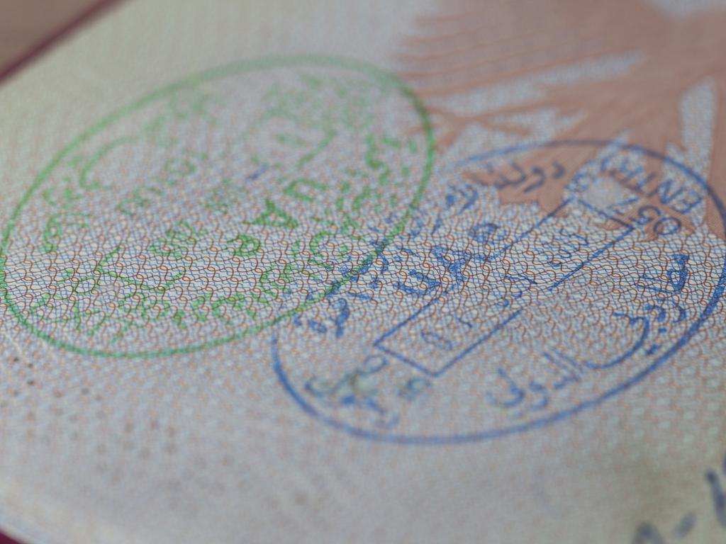 UAE Stempel bei der Einreise und Ausreise