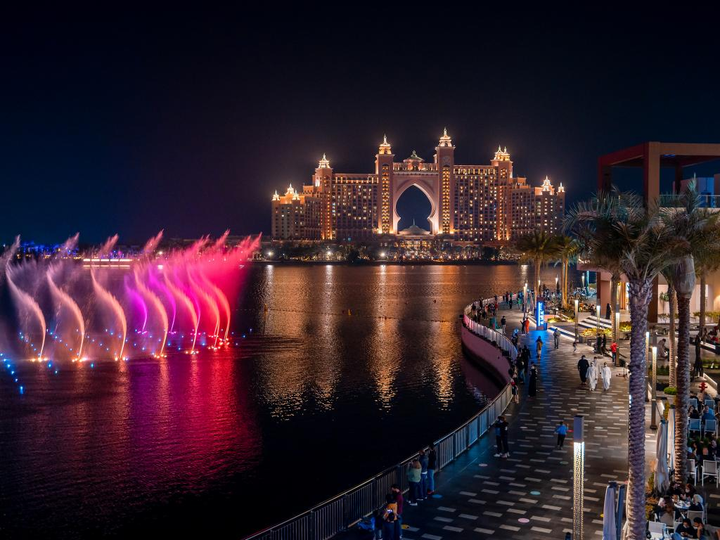 Atlantis, The Pointe und The Palm Fountain