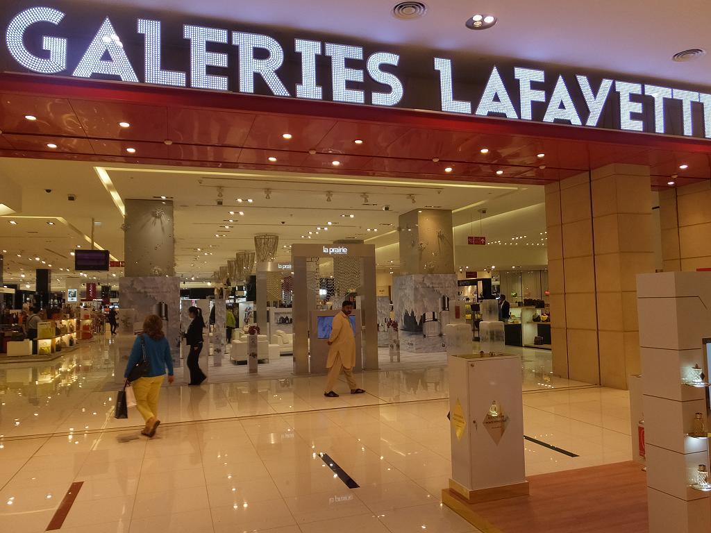 Der Eingang zu den Galeries Lafayette