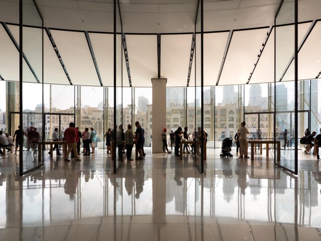 Der Eingang zum Apple Store