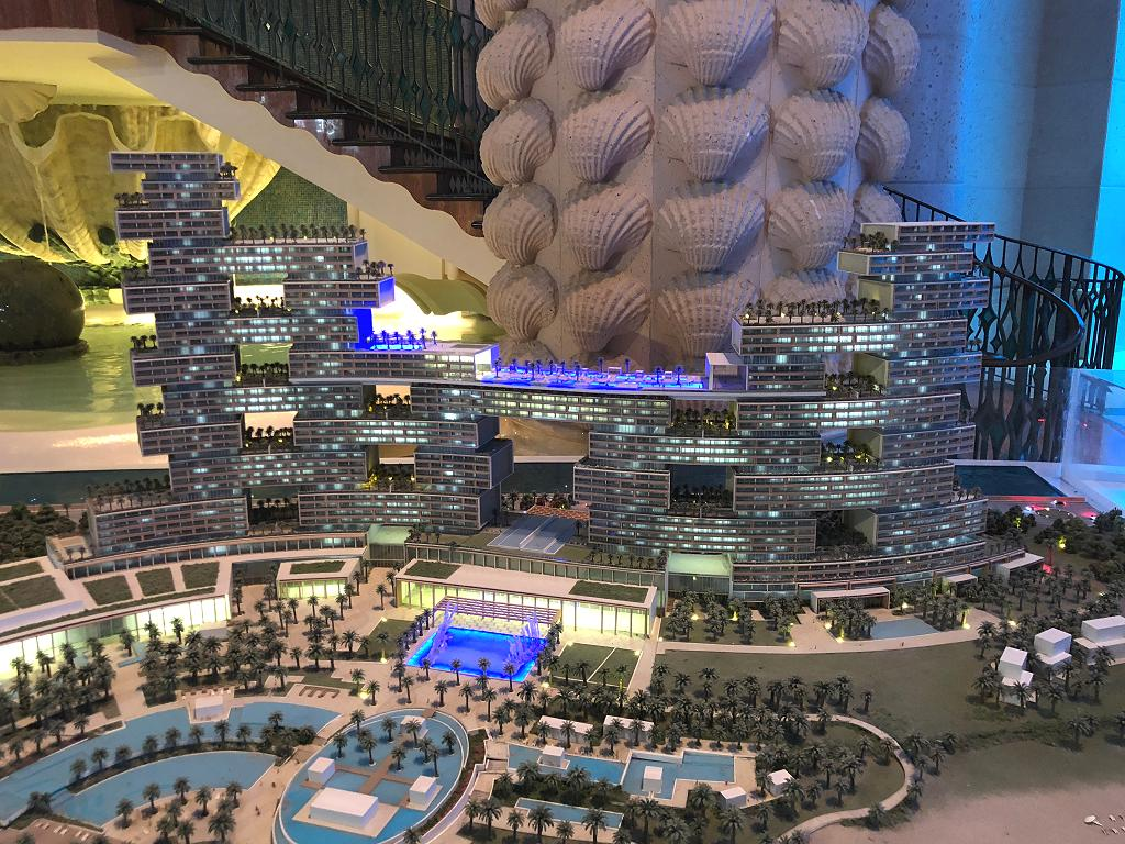 Modell vom Royal Atlantis in Dubai